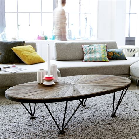 Exceptionnel Fabriquer Table Basse Ronde #6: Les-meubles-en-bois-brut-dans-la-déco-Table-basse-metal-orme-Lancelot-Tikamoon.jpg