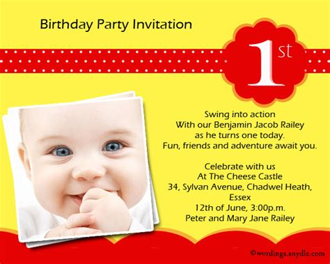 1st birthday invitation wording wordings and messages - Invitation Wording For 1st Birthday