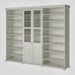 White Bookshelves With Glass Doors by Design Megillah Ikea Liatorp Hack