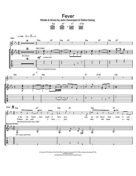 Fever Guitar Chords