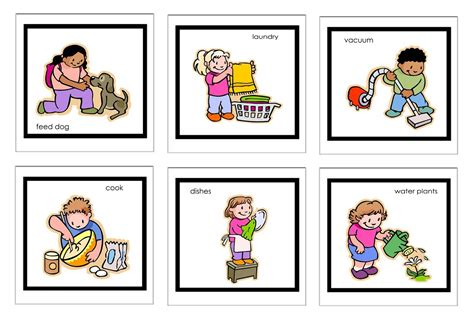 home chores family doing household chores clipart clipartsgram com
