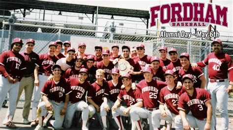 fordham baseball to host alumni day on may 6th