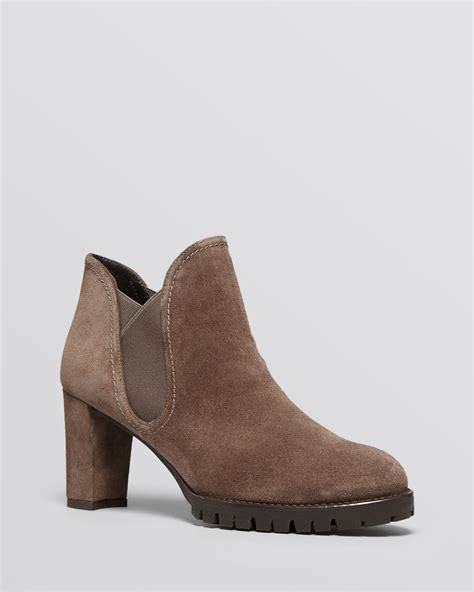 brown high heel booties stuart weitzman platform booties jackson high heel in