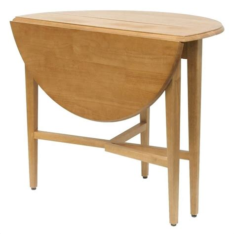 """42"""" Round Drop Leaf Casual Dining Table in Light Oak"""