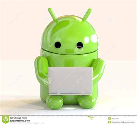 Superuser Android White android os logo mascot working on a laptop on white