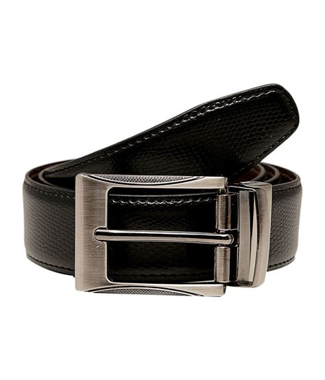 tossido synthetic leather black brown reversible belt