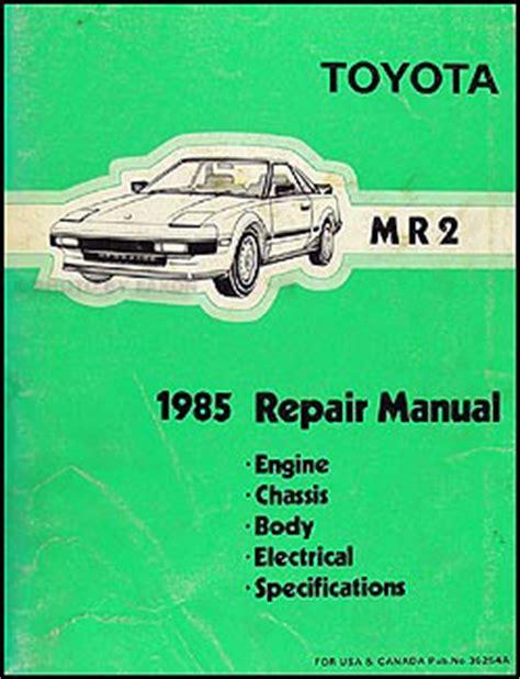 auto repair manual free download 1985 toyota mr2 spare parts catalogs 1985 toyota mr2 repair shop manual original
