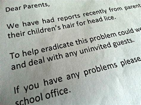 Parent Letter Lice let s eradicate the stigma of nits lice