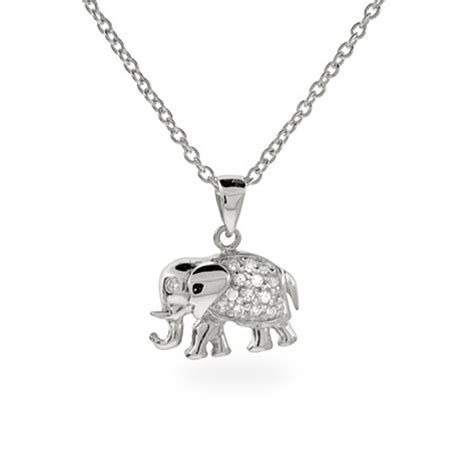 sterling silver and cz elephant pendant clearance ebay