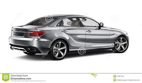 car rear view silver sedan car rear view stock illustration image