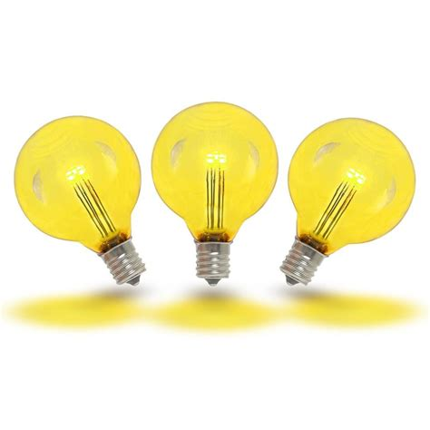 novelty lights yellow led g40 glass globe light bulbs novelty lights