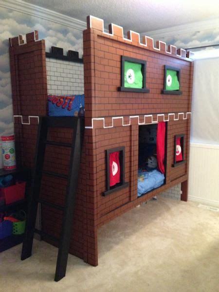 castle beds for boys mario bunk bed castle kids bedroom tutorials pinterest