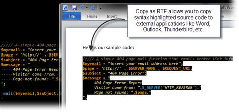 format html ultraedit copy and paste syntax highlighting as rtf or html with