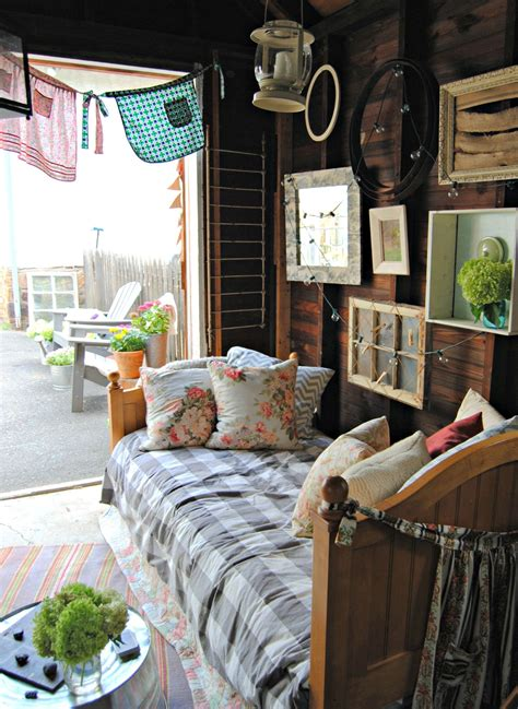 backyard ideas  steal   charming  shed