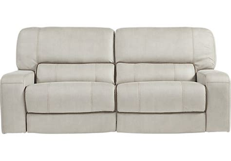 milano blue leather reclining sofa living room sofas couches reclining power futon etc