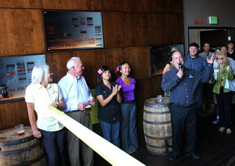 white labs tasting room ribbon cut doors open white labs is open for business san diego reader