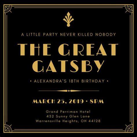 Customize 204 Great Gatsby Invitation Templates Online Canva Great Gatsby Invitation Template