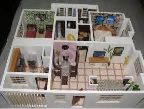 Bedroom Blueprint doll house interior model in tughlakabad new delhi