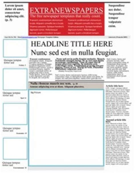 fashioned newspaper template  word   abused