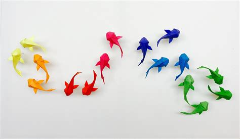 Origami Koi - you should definitely give a carp about these beautiful