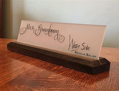 desk name plates for teachers 11 best rustic desk office name tags or signs handmade