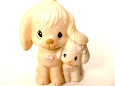 Precious Pups At Etsy by Vintage Precious Moments Puppy Porcelain By