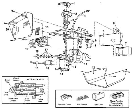 craftsman garage door opener parts model sr