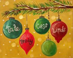 ornament painting ideas personalized ornaments canvas painting sip