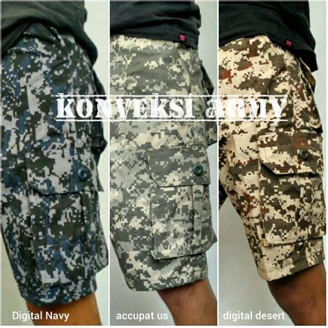 Celana Olah Raga Loreng jual celana pendek amry loreng cargo camo militer konveksi army bandung