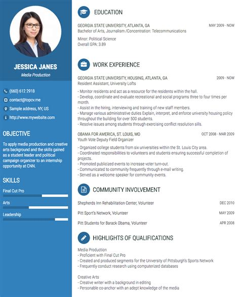 Proffesional Resume by Professional Cv Resume Builder With Many Templates