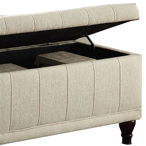 storage bench fabric home origin lift up fabric storage bench hsn