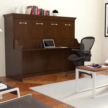 Wall Bed Desk Combo by Melbourne Wall Bed W Desk Combo Walnut