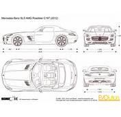 2012 Mercedes Benz SLS AMG Roadster C197  Cars Blueprints