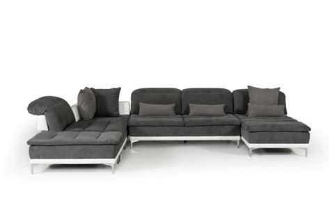 david horizon modern grey fabric leather