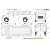 The Blueprintscom  Vector Drawing Chevrolet Express LWB