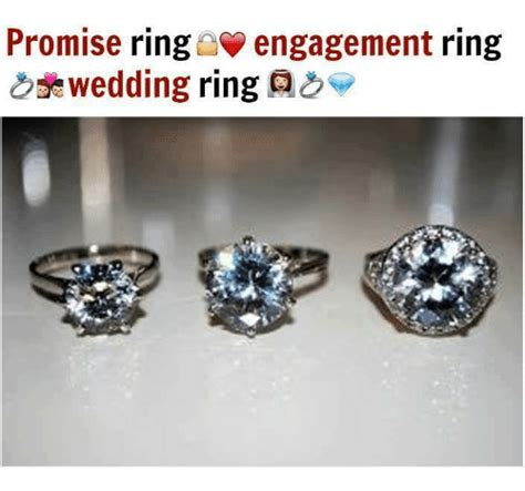 promise ring engagement ring wedding ring as