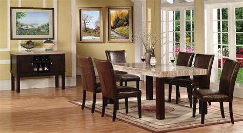Marble Table Dining Room Sets Faux Marble Casual Dining Set Acme 70130 Sectionals