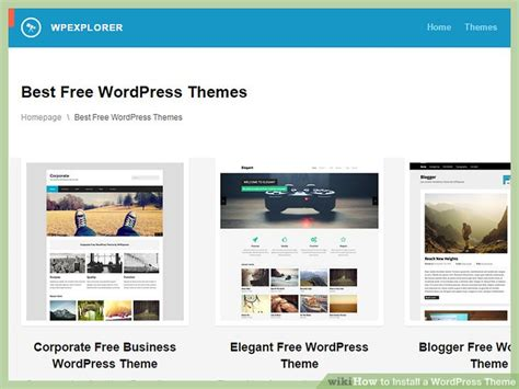 wordpress theme quickstep how to install a wordpress theme 11 steps with pictures