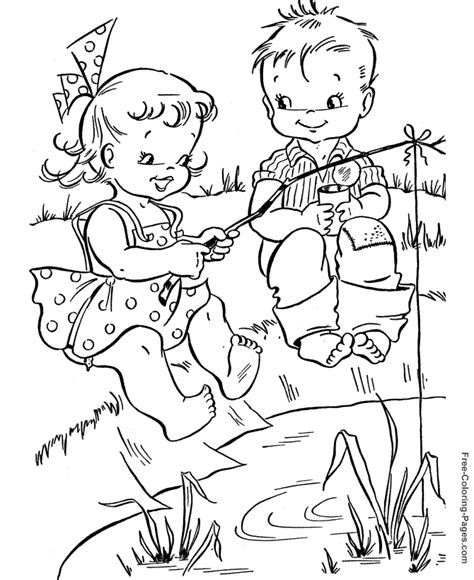 coloring pages for adults summer summer coloring pages fishing 11