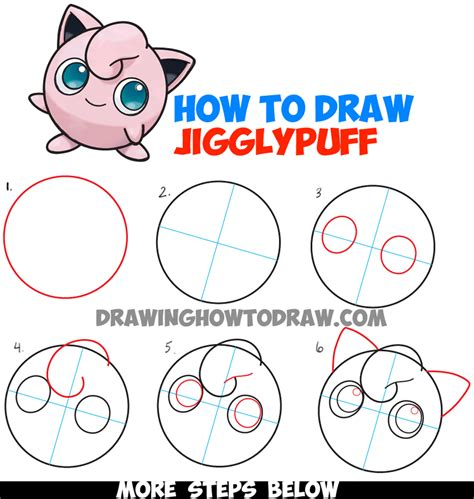 how to draw a step by step easy how to draw jigglypuff from easy step by step drawing tutorial how to draw