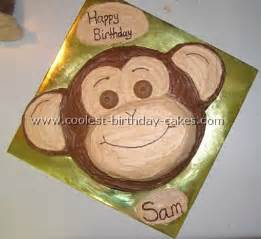 monkey template for cake monkey cakes cupcakes birthday ideas