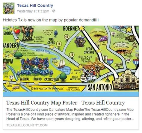 texas hill country map helotes finally added to colorful texas hill country map