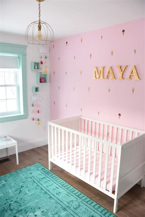 Pink Nursery Decor How To Paint A Diy Nursery Mountain Mural No Skills Required