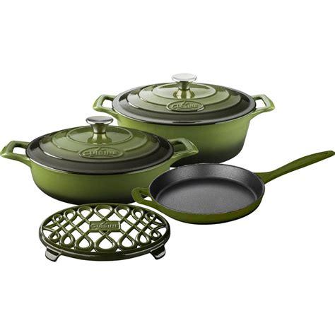 cast iron enamel cookware la cuisine 6 piece enameled cast iron cookware set with