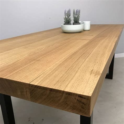 the block dining tables block solid oak dining table by revive joinery