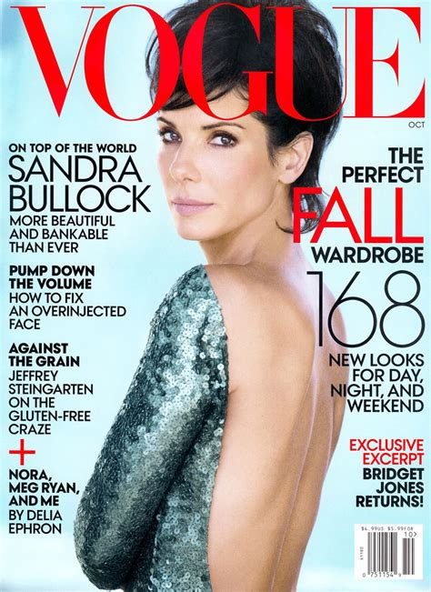 Best Magazine Covers For October by Bullock Lands Fifth Vogue Cover For October 2013 Issue