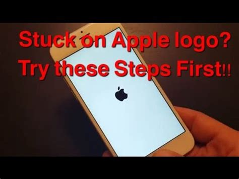 stuck on apple logo iphones ipads ipods try these steps
