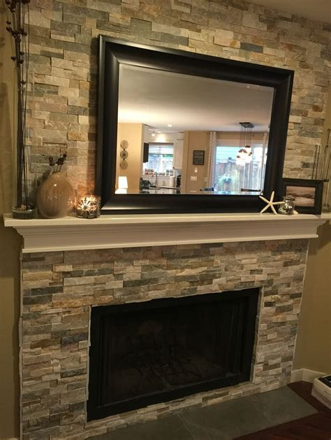 refaced fireplace for the home mantles