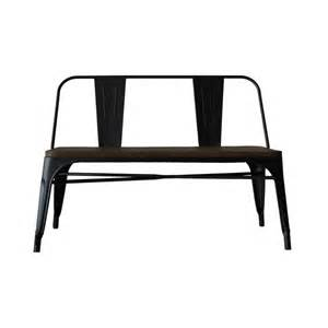 tolix style bench with backrest reallynicethings