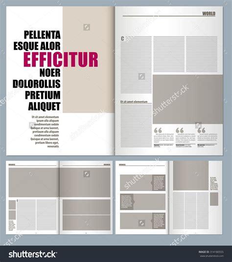 Modern Magazine Layout Template Photobook Template Pinterest Layout Template Magazine Pin Design Template